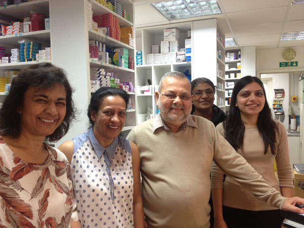 close up of the pharmacy team
